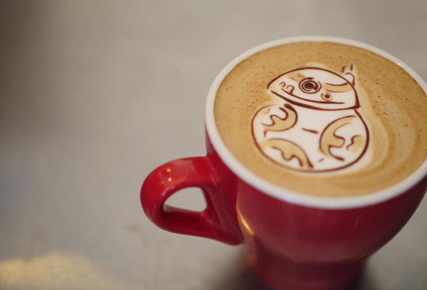 tranh vẽ từ cà phê