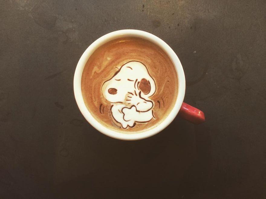 tranh vẽ từ cà phê 2