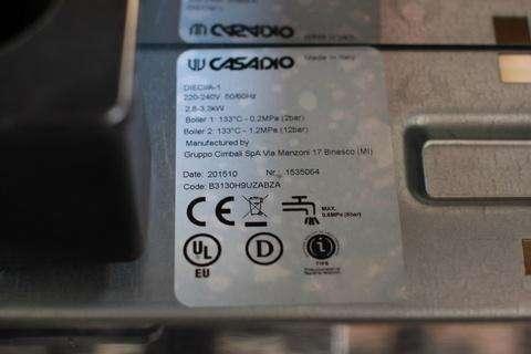 Tem nhãn máy pha cà phê Casadio