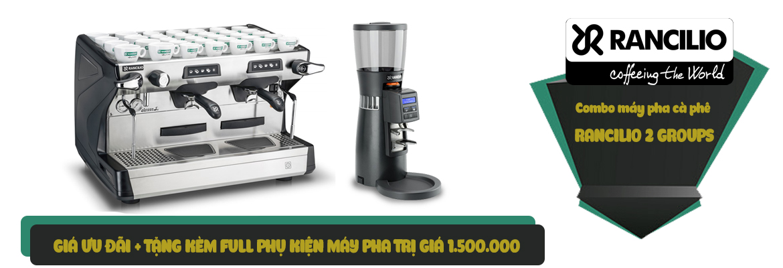 Combo máy pha cà phê Rancilio