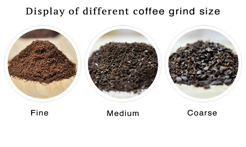 Chú ý đến độ mịn của cà phê