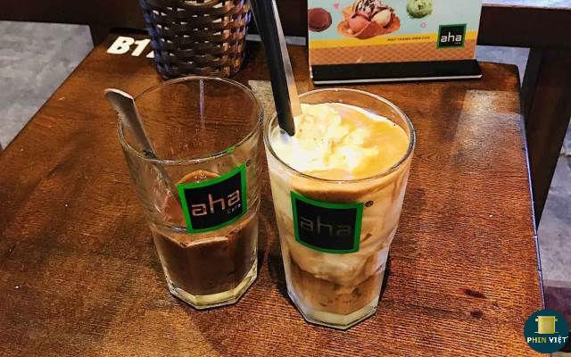 Món cafe cốt dừa độc và lạ Aha Cafe